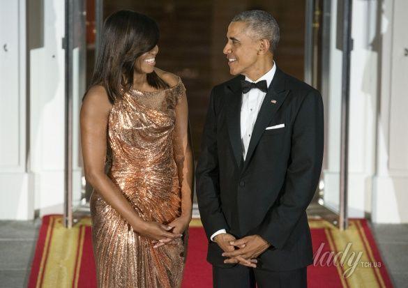Мишель Обама на прощальном ужине в Белом доме_2