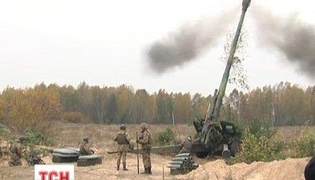 """На полигоне """"Дивички"""" украинские артиллеристы провели учения с боевой стрельбой"""