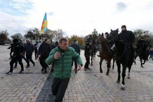 """""""Конопляный марш"""" обернулся блокадой фуникулера и появлением полицейской кавалерии"""