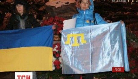 Акцию в защиту пленных Сенцова, Сущенко, Клиха и крымских татар провели в центре Москвы