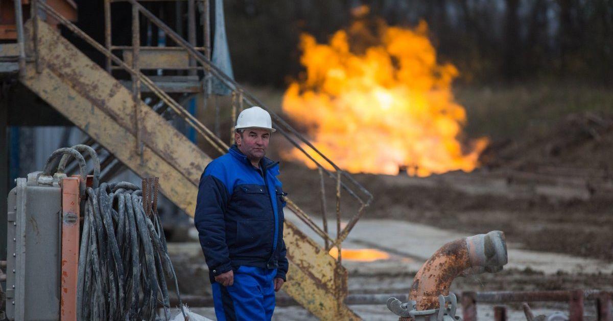 Торжественная церемония начала добычи газа на Колодницкому газовом месторождении в Стрыйском районе Львовской области. @ УНИАН