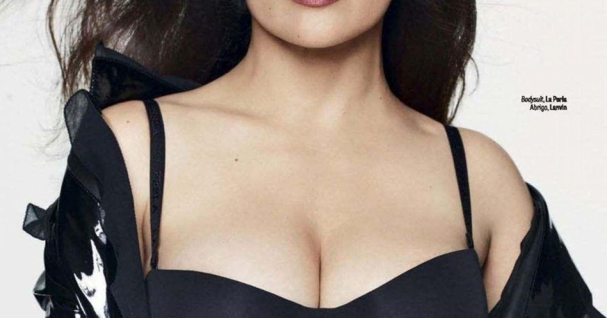 Без белья и в откровенных нарядах: Сальма Хайек позировала для журнала GQ