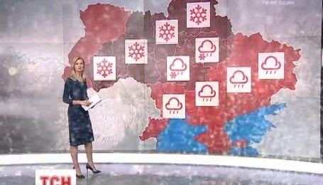 В Украину идут сильные снегопады и гололед