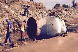 У М'янмі з неба впав неопізнаний металевий об'єкт