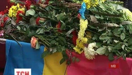 У Києві провели в останню путь 43-річного морського піхотинця Олександра Бойка