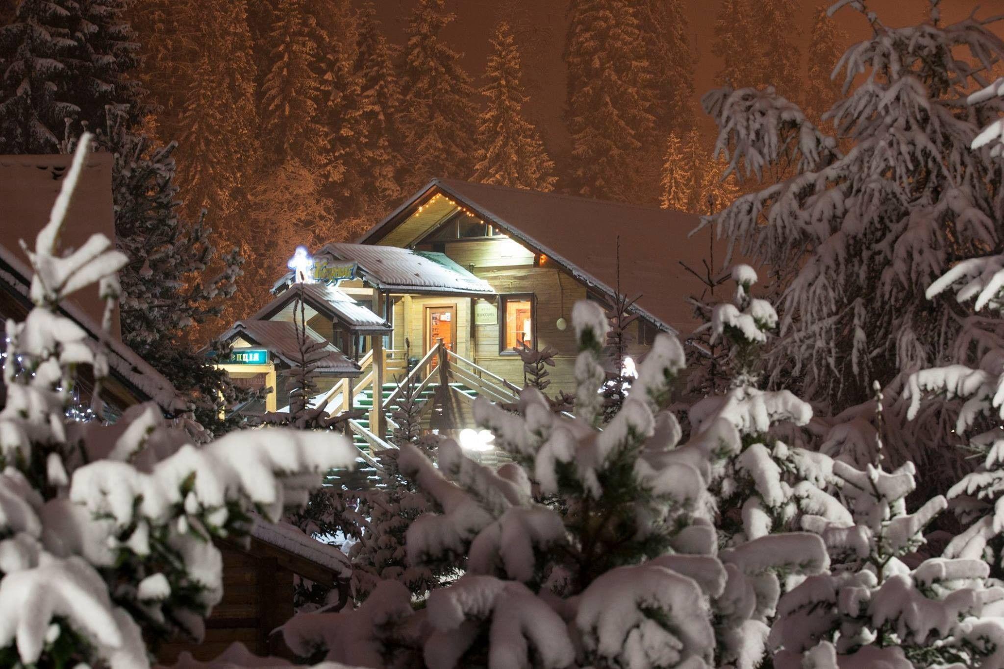 Снігопад у Буковелі, сніг