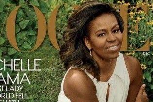 Нежная и женственная: Мишель Обама позировала в платье Carolina Herrera на обложке глянца