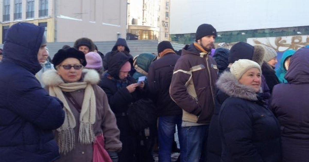 Организованная колонна митингующих