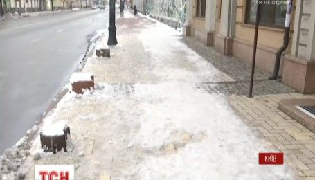 Каждый второй тротуар в Киеве опасен для пешеходов