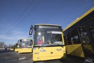Киевлян предупредили об отклонении транспорта от графика из-за непогоды