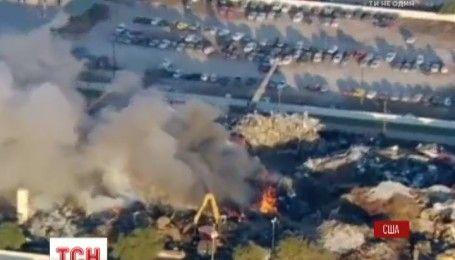 В Г`юстоні горить сміттєзвалище: повітря наповнене токсичним димом