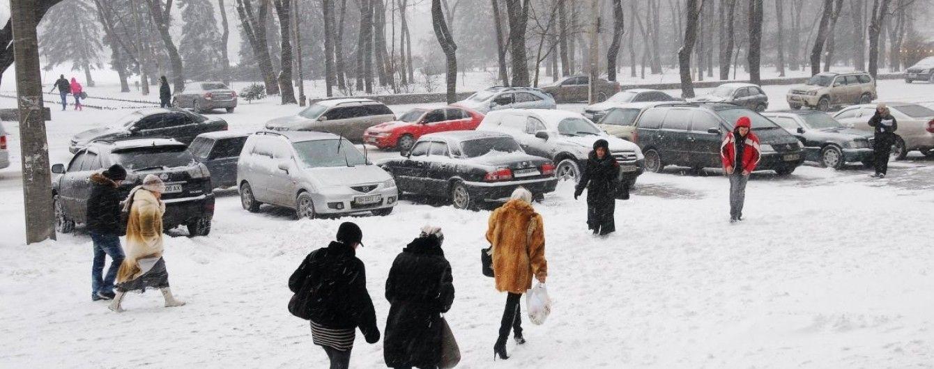 Захурделило: Львів накрив сильний снігопад