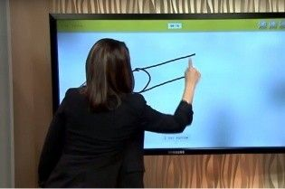 Американская ведущая в прямом эфире случайно нарисовала вместо пушки нечто иное