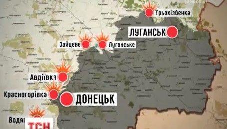 В штабе АТО сообщили об уменьшении количества обстрелов по всем направлениям фронта