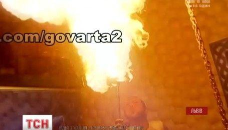 Во время огненного шоу во Львове загорелся ночной клуб, есть пострадавшие