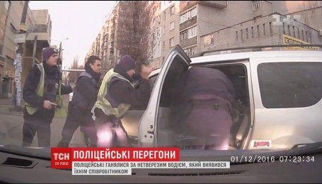 В Дніпрі затримали чоловіка, який розбив поліцейський Prius