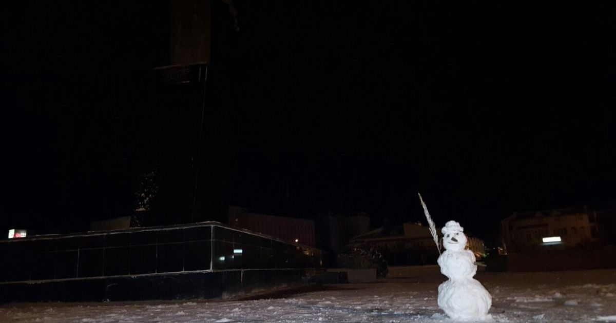 Сніг у Євпаторії