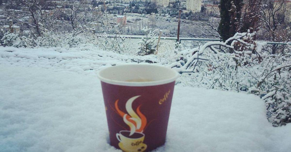Сніг в Алушті