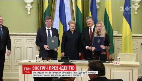 Создавать мировую проукраинскую коалицию договорились президенты Украины и Литвы