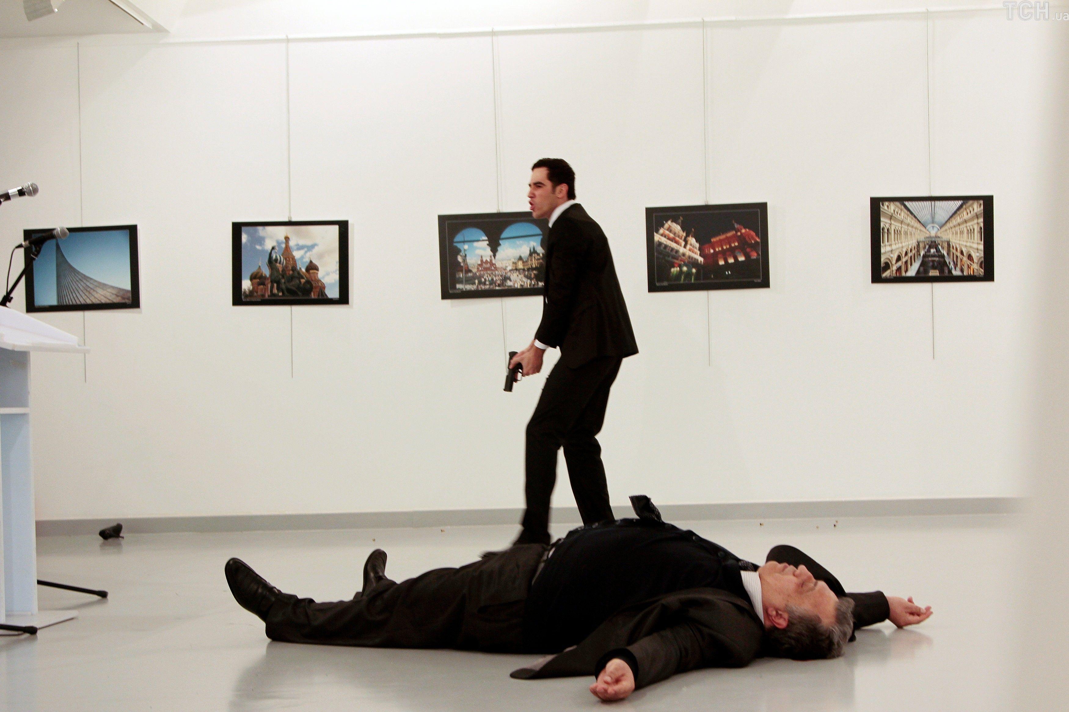 вбитий посол Андрій Карлов та його вбивця
