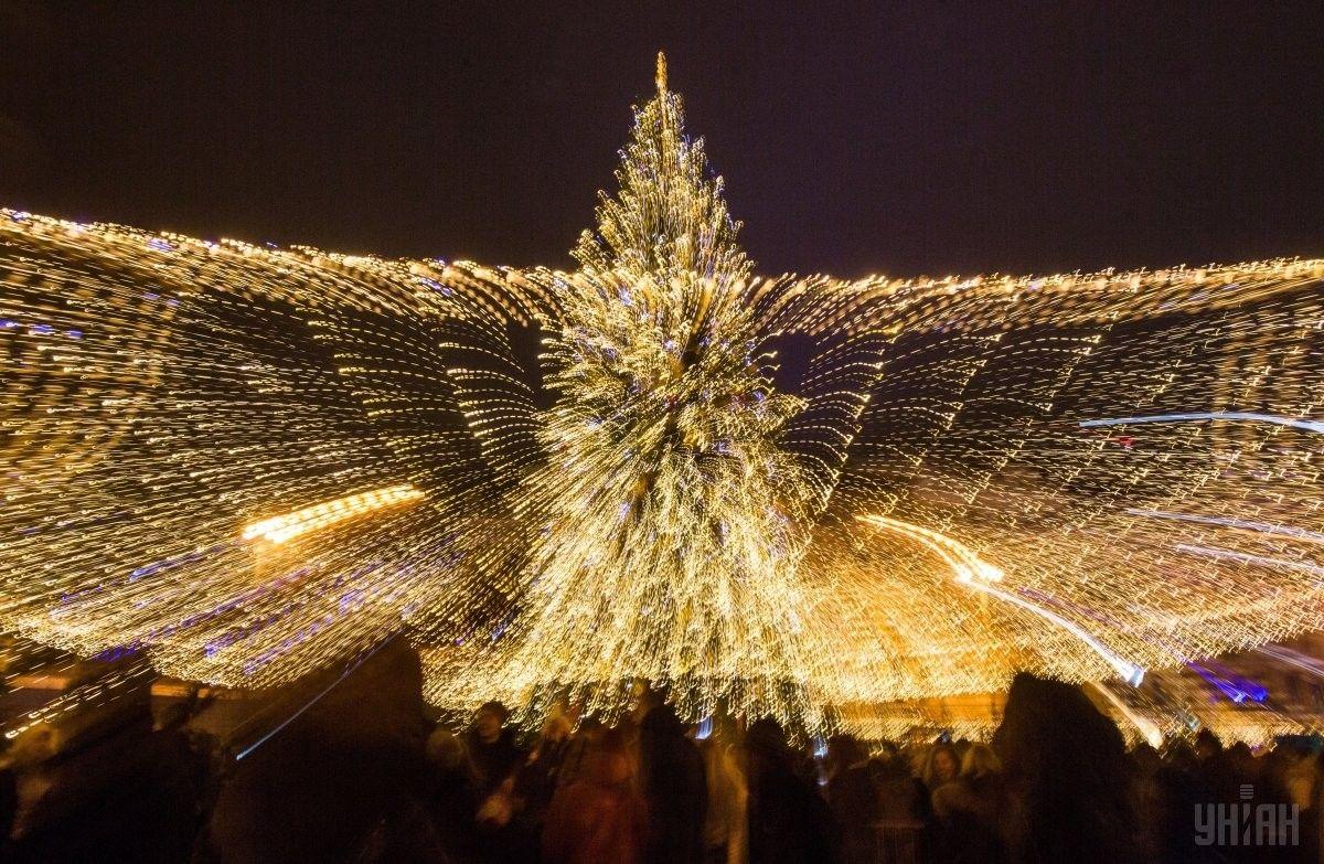 новорічна ялинка на Софійській площі в Києві_9