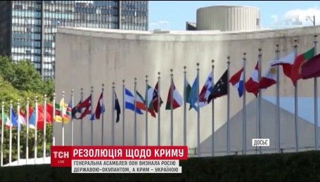 Генеральна асамблея ООН визнала Росію державою-окупантом, а Крим – Україною