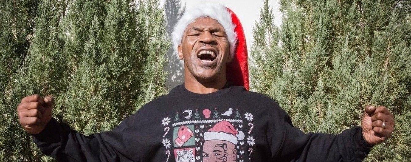 Майк Тайсон у брутальному стилі привітав усіх із новорічними святами