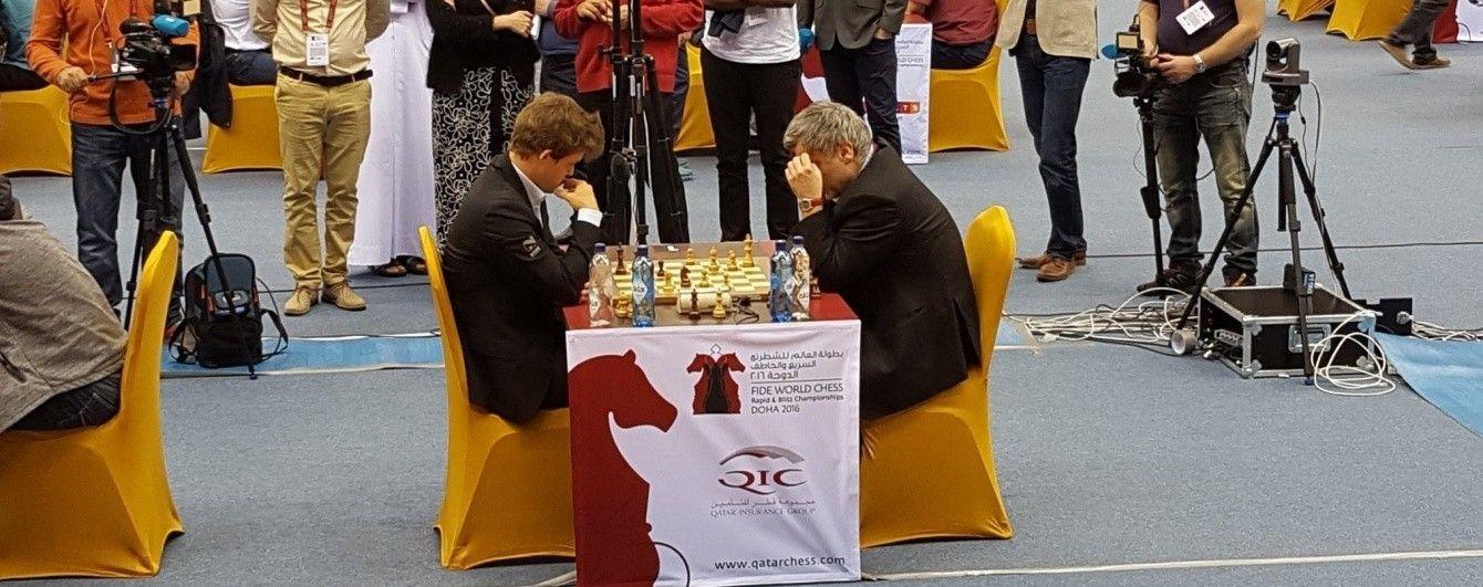 Український гросмейстер переміг чемпіона світу з шахів