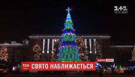 У новорічний вечір пів-Дніпра зійшлись у центрі міста