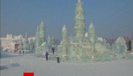 Найхолодніше місто в Китаї перетворилося на крижаний замок