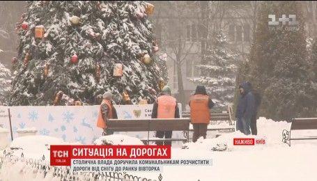 Первый рабочий день после снегопадов: насколько загружены дороги Киева