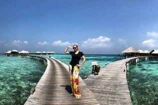 Наша пісня гарна й нова: Волочкова засипала Мережу відвертими фото у бікіні із Мальдів