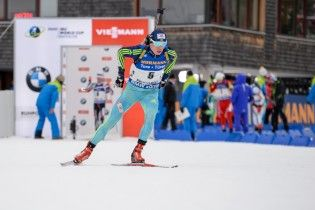 Украина выиграла первую индивидуальную медаль на Кубке мира по биатлону