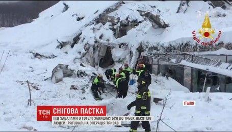 Кількість жертв лавини, що накрила гірський готель в Італії, зросла до чотирьох