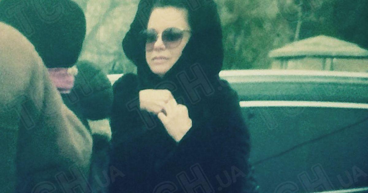 Корольова на похоронах бабусі @ ТСН