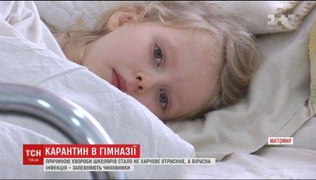 Гімназію у Житомирі, де потруїлися 19 школярів, таки закрили на карантин