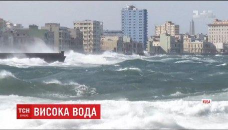Большая вода накрыла Гавану: из-за сильных ливней затоплены несколько улиц