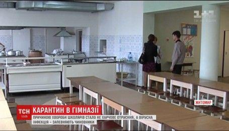 У Житомирі закрили на карантин гімназію, де потруїлися школярі