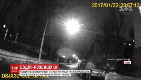 У Львові патрульні виписали 4 протоколи нетверезому водію, котрий запевняв, що далі за кермом не поїде