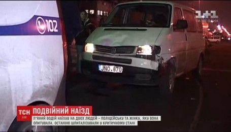 У Києві нетверезий водій збив патрульну поліцейську та жінку