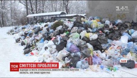 Во Львове люди устроили мусорный протест