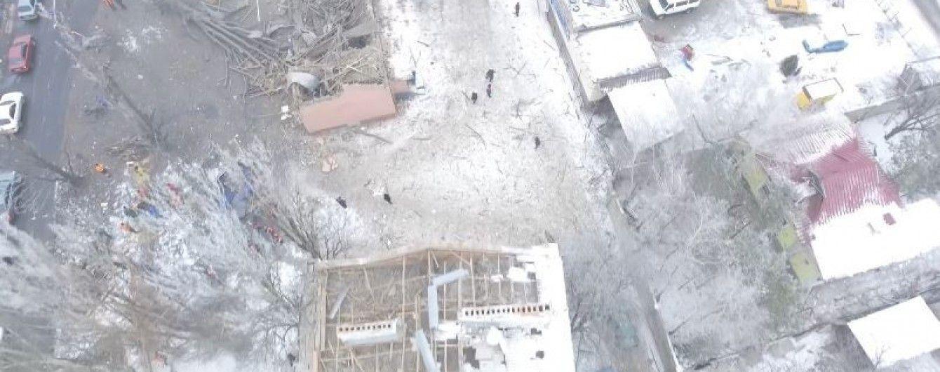 В Сети обнародовали снятое с БПЛА видео последствий мощного взрыва в оккупированном Донецке