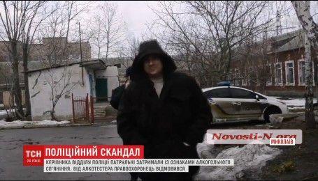 У Миколаєві затриманий патрульними начальник поліції відмовився пройти медобстеження на алкотестері