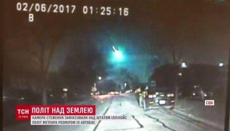 У США посеред ночі зняли політ яскравого метеора