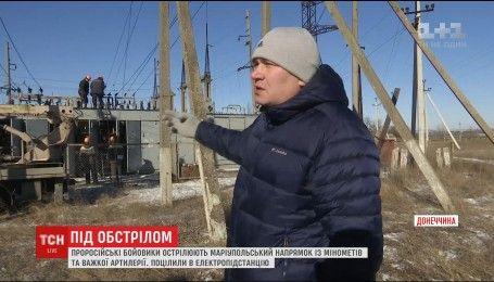 С минометов и тяжелой артиллерии боевики обстреливали населенные пункты на Мариупольском направлении