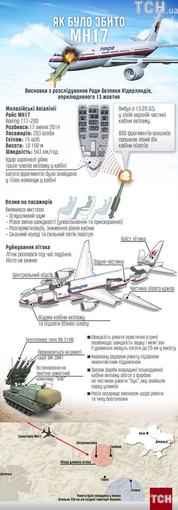 Катастрофа MH17. Інфографіка