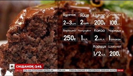 Буряково-шоколадний кекс з чорницею - рецепти Насирова