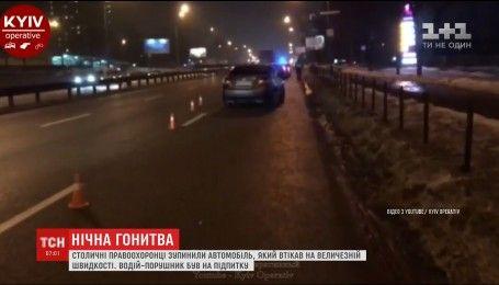 П'яний водій влаштував перегони з поліцейськими по нічному Києву