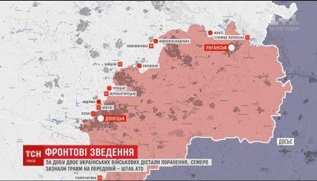 Ночная активизация боевиков: девять украинских воинов травмированы