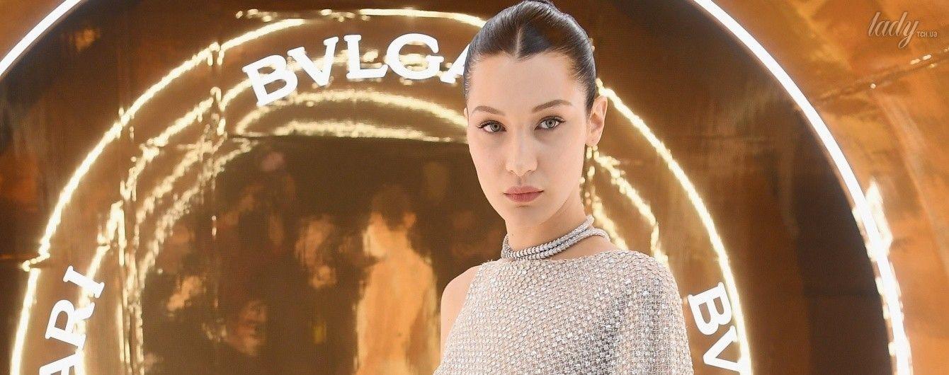 В мини-платье из драгоценных камней: Белла Хадид на вечеринке Bvlgari